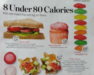Photo by Levi Brown.  Adapted from Health.com March 2012 Article 8 Under 80 Calories